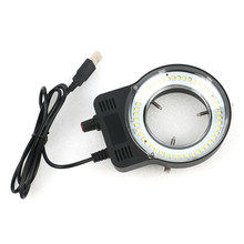 48 LED SMD USB Adjustable Ring Light Illuminator Lamp for Industry Microscope Industrial Camera nifier(China)