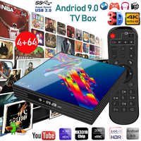 A95x R3 Smart Tv Box Android 9.0 4 G 64gb Octa Core Tvbox Android 9 Usb3.0 2.4/5.0 ghz Wifi Netflix Youtube Iptv 4k Media Player