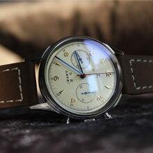 New Watch Men Business Tourbillon Sapphire Acrylic Seagull Mechanical
