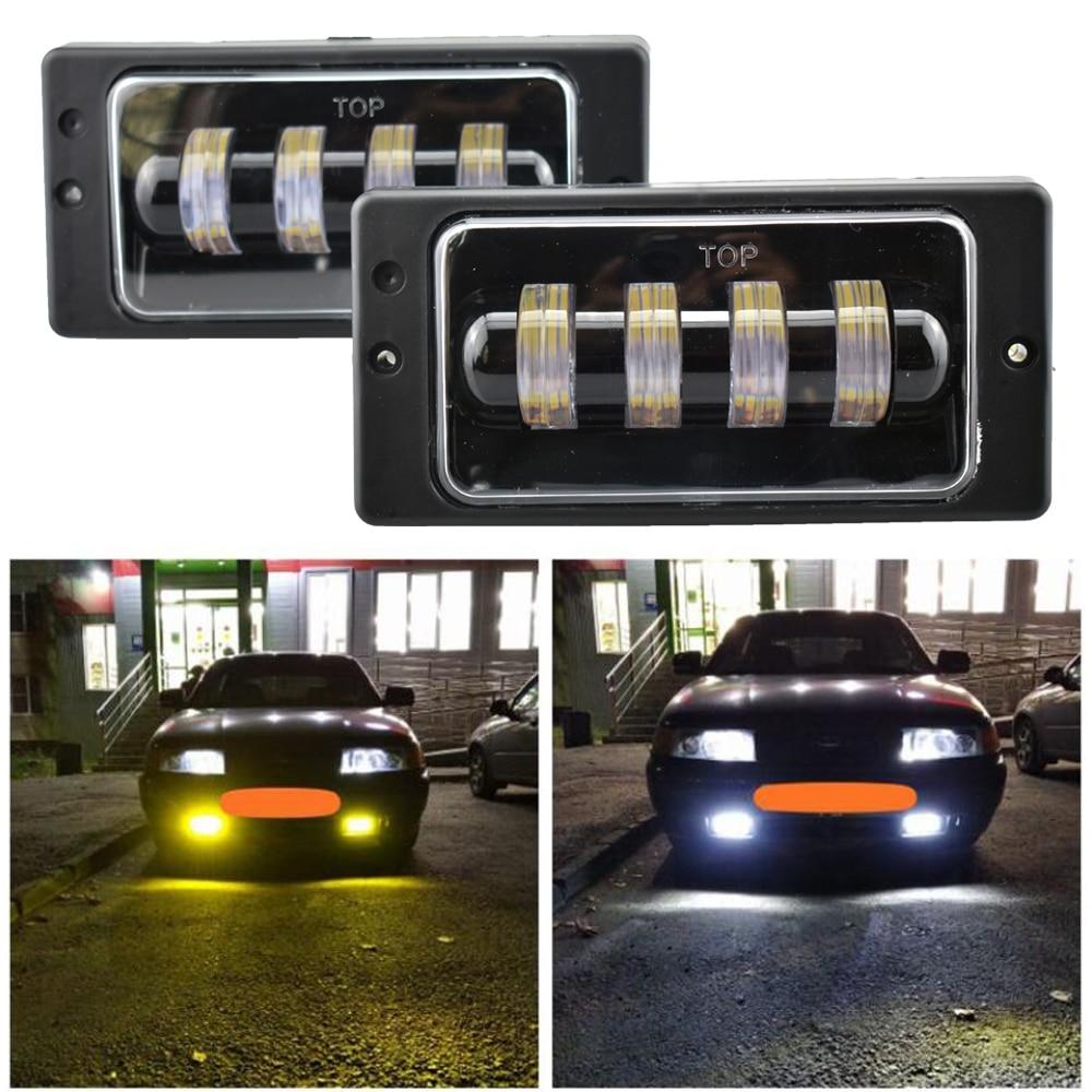 2 stücke für Vaz 2114 van LED DRL Treibende Lichter Weiß bernstein Engel Augen Nebel Lampe Für Lada 2110 -2117, für Kamaz, für Niva Chevrolet
