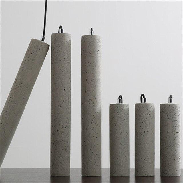 Фото светодиодная современная геометрическая цементная люстра для