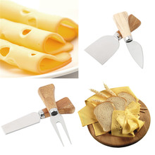 Cheese Grater Board-Set Slicer Knives Cooking-Tool Wood-Handle Bamboo Kitchen 4pcs/Set
