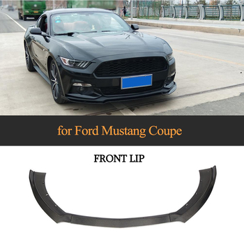 Front Bumper Lip Spoiler for Ford Mustang Coupe Convertible 2 Door 2015 - 2017 Carbon Fiber / FRP Chin Apron Splitters
