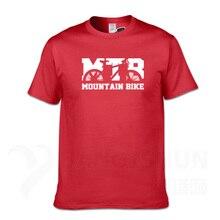 MTB bicicleta de montaña Vintage diseño de moda camisetas 16 colores 100% de algodón Camisetas manga corta hombres cuello redondo Camiseta Streetwear