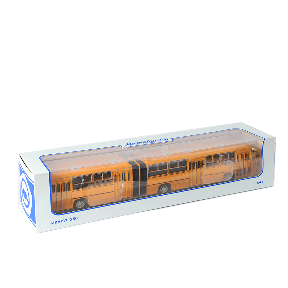 1:43 Scale Classic Russia IKarus-280 33m Yellow Bus Truck Cargo Trailer Lorry Van Vehicle Model Diecast Cars Gift Toys
