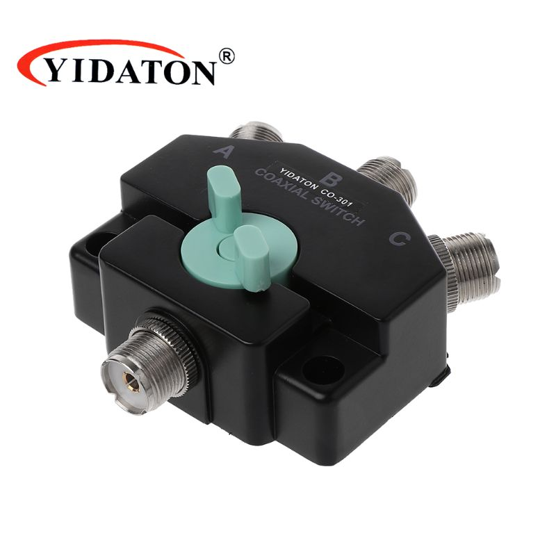 CX-310 C0-301 Heavy Duty Wideband 3 Way Adapter Coaxial Switches With Connectors Electronic Accessories