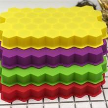 Горячее предложение 37 отверстие соты лоток для льда 37 даже шестиугольный лоток для льда сотовой силиконовый лоток для льда с крышкой