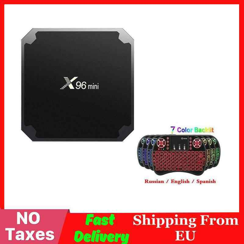 2GB 16GB X96 mini caja de TV inteligente Android X96 mini Amlogic S905W Set top BOX Android 7,1 QuadCore 4K Medie player 2,4G WiFi 1G8G