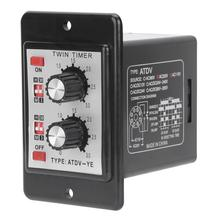 Time Switch Relay Knob Control Time Switch RelayOn Off Timer Relay Multi-Section ATDV-YEAC110V/220V authentic original stp 3d fotek time relay multi function digital timer