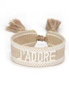 Женский плетеный браслет ручной работы, браслет дружбы, винтажные ювелирные изделия, подарок с регулируемой длиной и кисточками|Браслеты с шармами|   | АлиЭкспресс