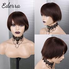 Pixie Cut Wig Human Hair Short Straight Wigs Brazilian  Hair Wigs For Black Women Straight Pixie Cut Wig