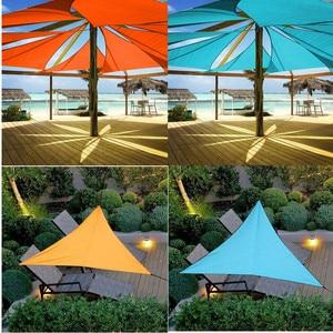Image 1 - Outdoor Sun Shelter Wasserdicht Dreieck Sonnenschirm Schutz Baldachin Garten Terrasse Pool Sonnensegel Markise Camping Picknick Zelt Große