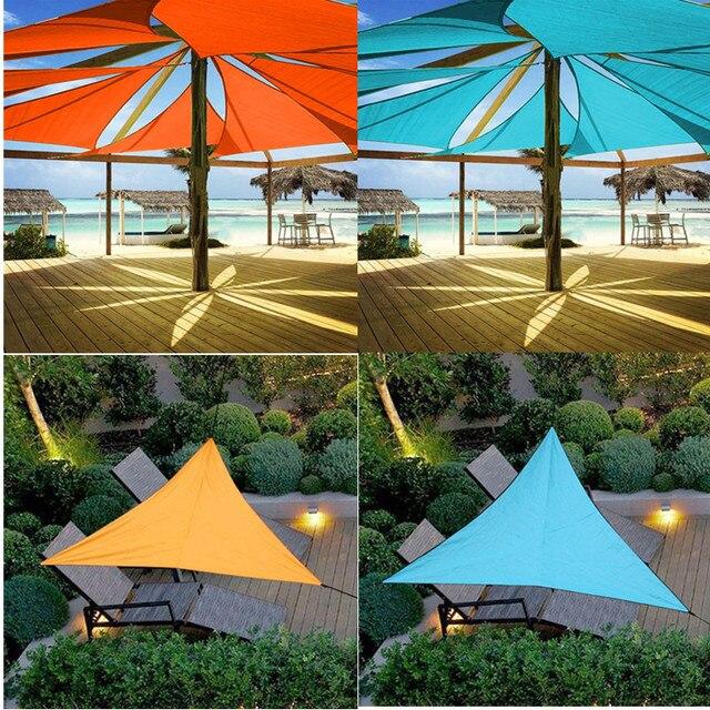 Outdoor Sun Shelter Wasserdicht Dreieck Sonnenschirm Schutz Baldachin Garten Terrasse Pool Sonnensegel Markise Camping Picknick Zelt Große