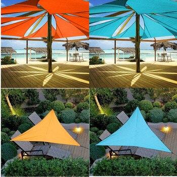 Outdoor Sun Shelter wodoodporny trójkąt osłona przeciwsłoneczna ochrona baldachim ogród Patio basen żagiel przeciwsłoneczny markiza Camping piknik namiot duży