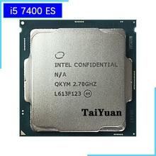 Intel processador core i5 7400 es i5 7400 es qkym, processador cpu quad core, 2.7 ghz, 6m 65w lga 1151