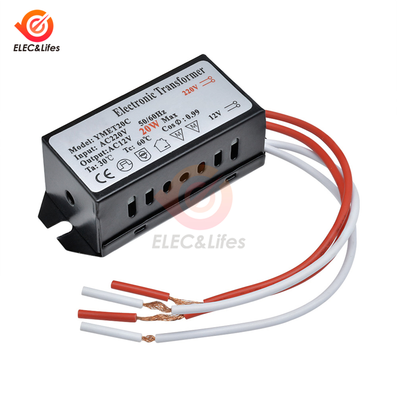 LED Light Transformer AC 220V to 12V 20W Step Down Voltage Converter Power Supply LED Driver for Smart Home LED bulb Lamp lights