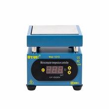 Estación de precalentamiento constante, plataforma de calor con Control de temperatura, pantalla LCD, 400W, 100x100mm, para máquina de reparación de pantalla de teléfono, PCB, SMD
