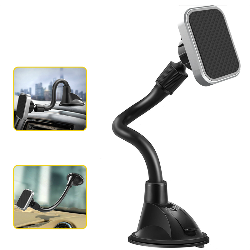 Universal Magnetic Car Phone Holder Long Arm Car Dashboard Phone Stand Strong Magnet Car Cellphone Holder For iPhone 8 X/7 plus