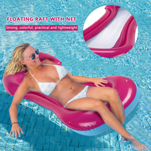 Foldable Water Hammock Recliner Inflatable Floating Swimming Mattress Sea Swimming Ring Pool Party Toy Lounge Bed