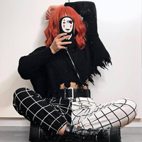 Fitshinling Black White Patchwork Pants