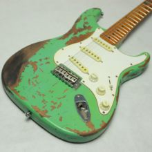 New Product 100% Handmade Relic Electric Guitar R-TY64 Soft Green  Color Alder body цена 2017