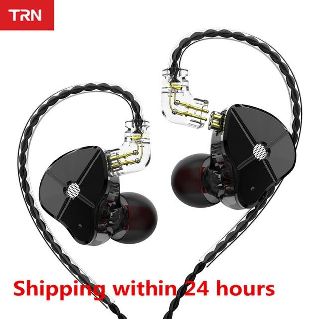TRN ST1 1DD+1BA Hybrid In Ear Earphone HIFI Running Sport Earphone Earbuds Detachable Cable EDX ZST ZSN V80 V90 ES4 V10 T2 M10
