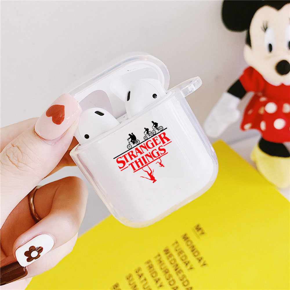 Stranger Things Christmas Lights Case For Airpods 2 1 Earphone Cover For Airpods Soft TPU Clear Transparent Earphone Cover Capa
