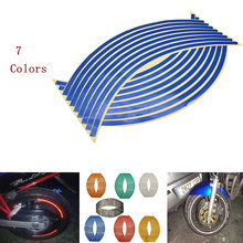 16Pcs Motorfiets Auto Wiel Tire Stickers Reflecterende Velglint Moto Auto Decals Voor BMW S1000RR S1000XR F700GS f 650 700(China)