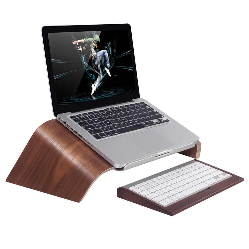 جديد وصول SAMDI خشبية منحرف العالمي حامل كمبيوتر محمول حامل القوس ل ماك بوك اير/برو