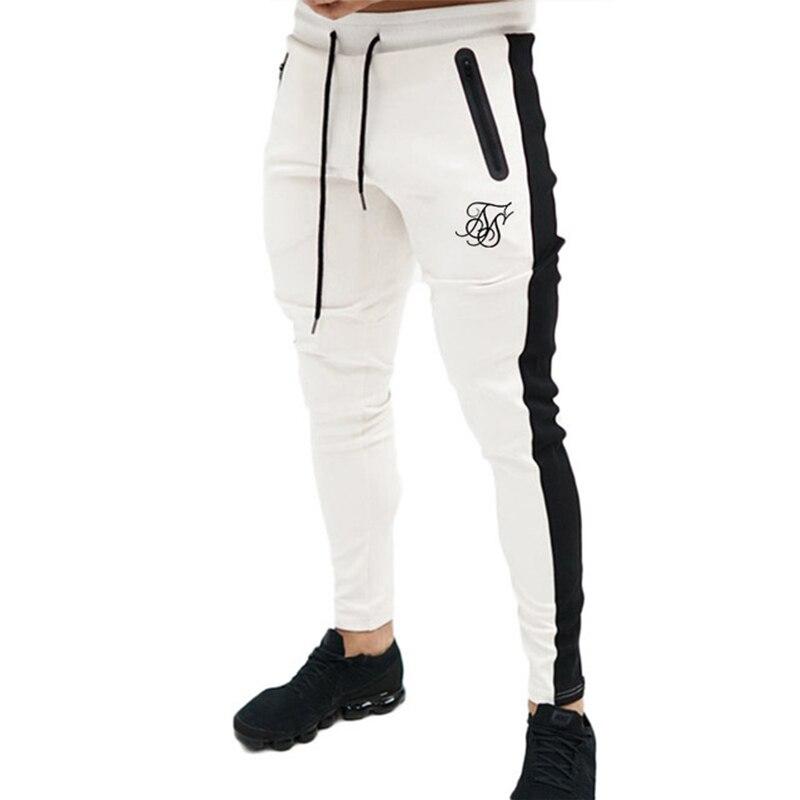 Мужские высококачественные шелковые Брендовые брюки из полиэстера, повседневные брюки для фитнеса, повседневные спортивные тренировочные...