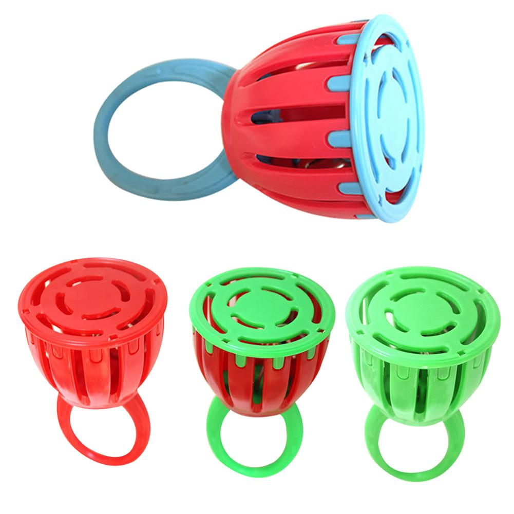 Children Mini Handled Cage Bell Rattle Musical Instrument Educational Toy Gift New