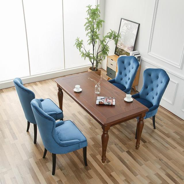 Solid Wood Cloth Dining Chair  2