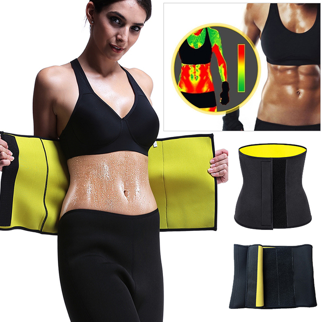 Women Neoprene Body Shapers Slimming Belt Waist Shaper Fat Burner Waist Trainer Weight Loss Tummy Control Workout Sauna Suit