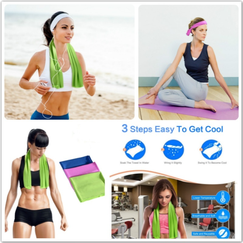 1 Pcs Yoga Towel Golf Towel Survival Gear Cooling Towel For Sports Workout Fitness Gym Yoga Pilates Travel Camping & More