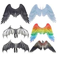 Wings-Prop Angel-Demon Cosplay Lucifer Masquerade-Accessories Fabric Morningstar Halloween