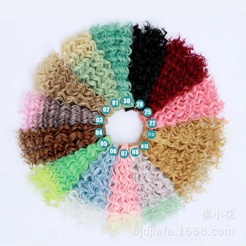Forma 25*100cm diy mini cabelo boneca peruca material de alta temperatura peruca de cabelo reto para bjd