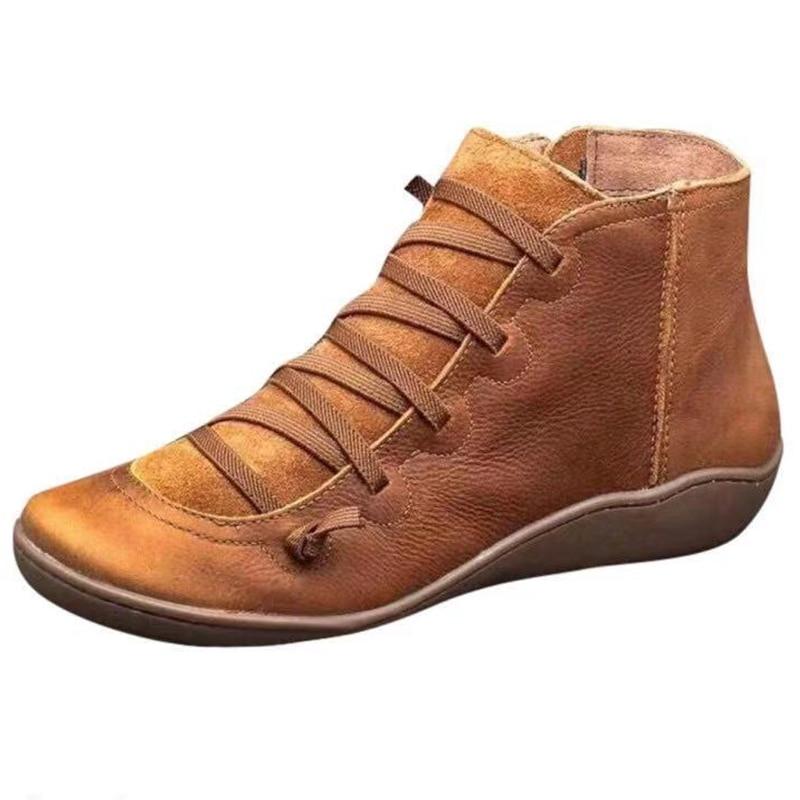 2019 sonbahar ayakkabı kadın botları kadın kış yarım çizmeler kadınlar için kış çizmeler patik etnik yumuşak rahat bayanlar ayakkabı artı boyutu