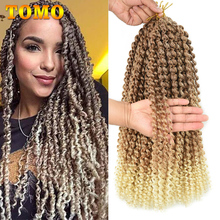 TOMO Long Ombre Blonde Water Wave 14 18 22inch Passion Twist Hair Bohemian