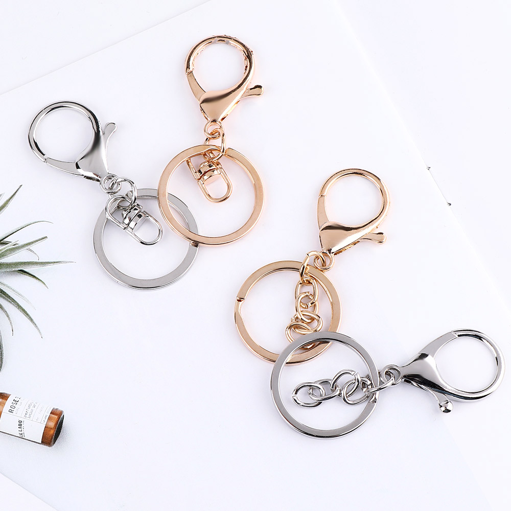 5pcs/set Classic Lobster Clasp Key Hook Chain Making For Keychain Waist Belt Clip Anti-lost Buckle Hanging Retractable Keyring