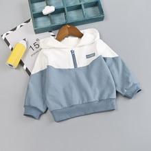 Сезон весна-осень; модная толстовка с капюшоном на молнии для маленьких мальчиков и девочек топы; детская одежда roupa infantil