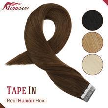 18 Kleur Tape In Hair Extensions Menselijk Haar Machine Remy Pu Huid Inslag Kleur 12 24 Inch Straight Tape hair Extensions Menselijk Haar