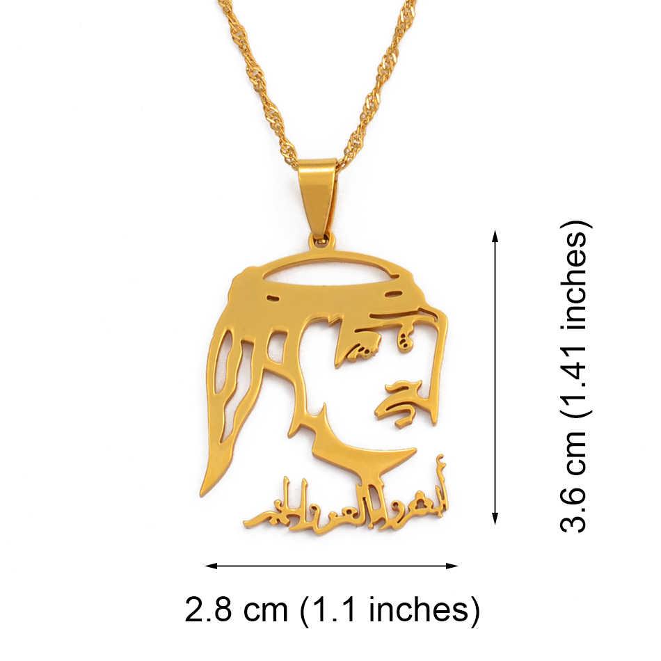 Anniyo nowy katar kraj wisiorek naszyjniki dla kobiet mężczyzn złoty kolor i biżuteria ze stali nierdzewnej prezent kataru #030321