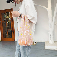 Spring new small daisy embroidery floral art Japanese student wild one-shoulder ladies bag fresh