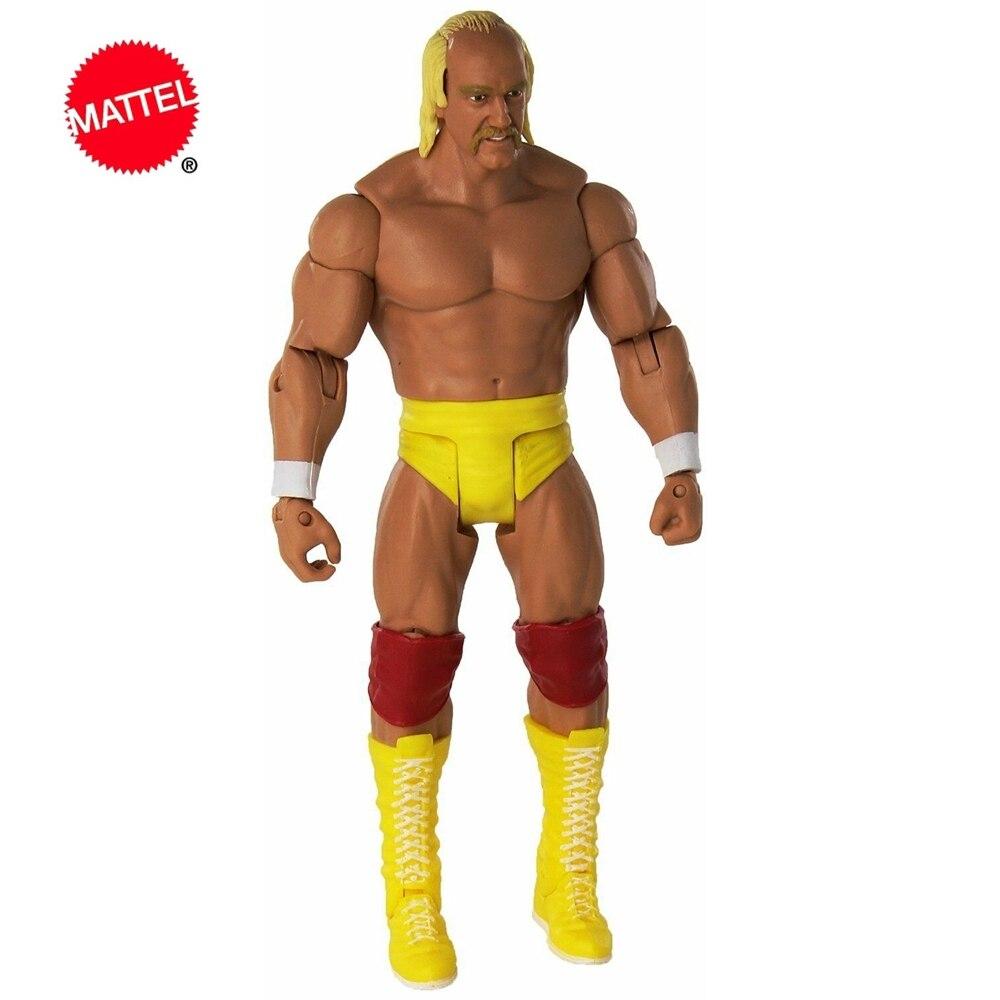 Супермобильная серия Mattel WWE, кукла-борец Халка Хогана, 6 дюймов, экшн-фигурка, модель, детские игрушки, подарок на день рождения
