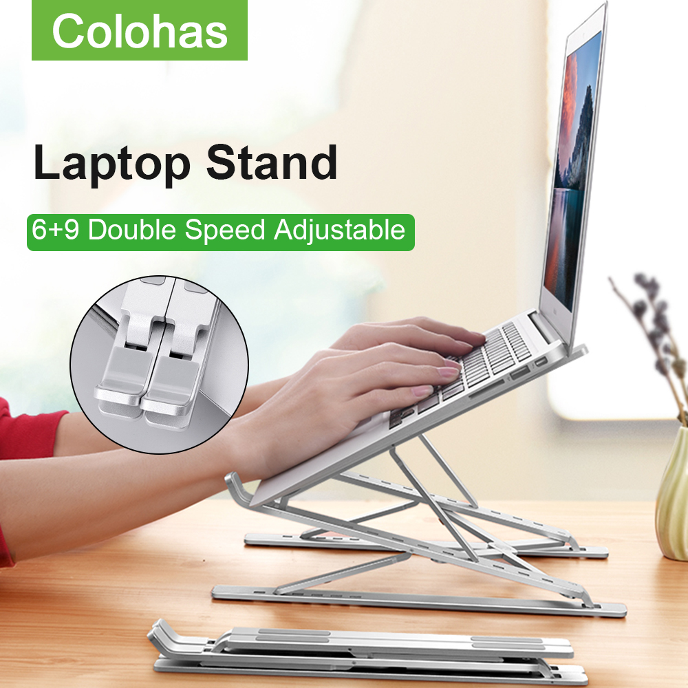 Dual Adjustable Laptop Stand Notebook Holder For Computer Macbook Base Stand Portable Support Notebook Stand Riser Bracket