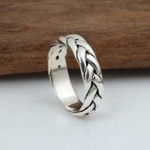Hand retro Thai silver ring real 925 sterling silver jewelry for men and women wedding ring