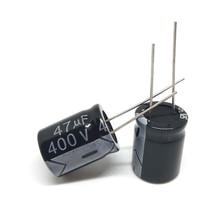 Pengiriman gratis 10 pcs/lot Aluminum electrolytic capacitor 47 uF 400 V 16*22mm Electrolytic capacitor ic