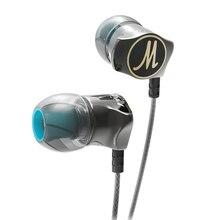 Auricolari QKZ DM7 edizione speciale custodia placcata in oro cuffia con isolamento acustico HD HiFi auricolare audifonos Stereo BASS Metal DJ