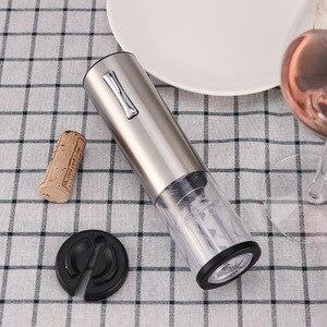 Image 3 - USB automatyczne elektryczne korkociąg wina zestaw otwieracz do butelek wina wyświetlacz światła USB akumulator otwieracz do butelek z folii Cutte