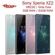 Sony – smartphone Xperia XZ2 H8216 débloqué, téléphone portable, 4G, Android, 5.7 pouces, Octa Core, 19mp, RAM 6 go, ROM 64 go, NFC, empreintes digitales